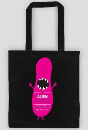 Alien tongue (język obcy) - torba z nadrukiem jednostronnym