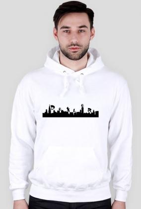 Bluza męska z kapturem - biała - DeXteR City