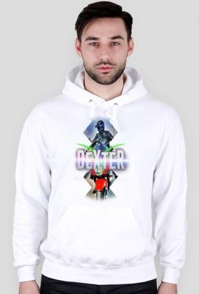 Bluza męska z kapturem - biała - DeXteR Moto