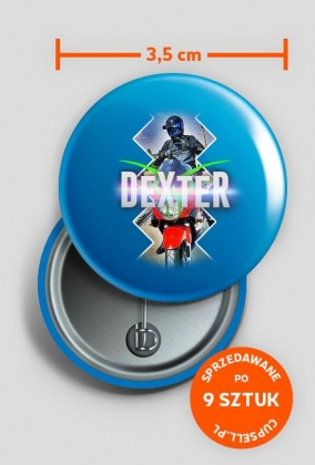 Przypinki DeXteR Moto - różne kolory - 9szt.