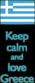 Keep calm and love Greece