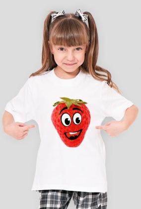 koszulka dziewczęca Pan truskawek