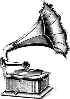 gramofon retro vintage koszulka damska