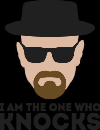 Koszulka T-Shirt Breaking Bad Walter White Heisenberg Meth Blue Crystal I Am  The One Who Knocks AMC