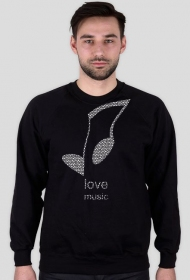 LOVE MUSIC hoody b