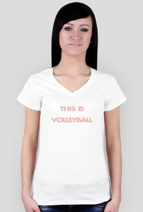 THIS IS VOLLEYBALL red girl