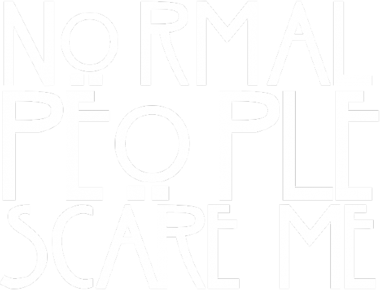 American Horror Story - Normal People Scare Me|T-shirt damski czarny