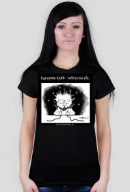 Łączenie kabli - koszulka damska