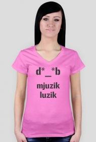 Muzyczna koszulka mjuzik luzik