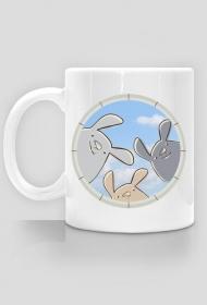 Kubek z nadrukiem - króliczki