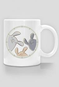 Kubek - nadruk jednostronny - króliczki