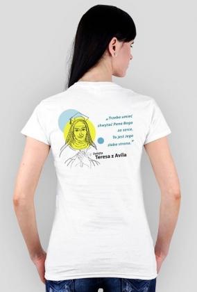 Koszulka Teresa z Avilla (biel damska)