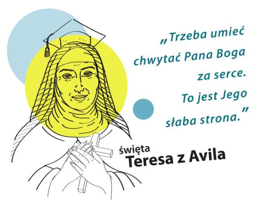 Koszulka Teresa z Avilla (biel dziecięca)