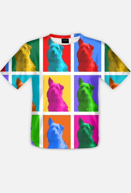Drops Pop-art - Koszulka FullPrint MuodeMotywy