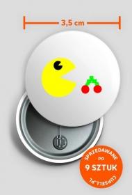 Przypinka głodny Pac-Man