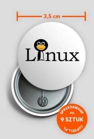 Przypinka śmieszny Linux [napis]
