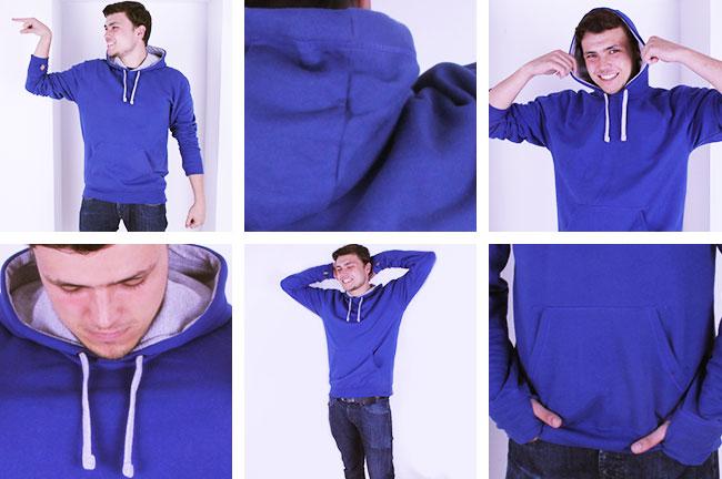 Zdjęcie rzeczywiste Bluza z kapturem Lechistan Logo 4 kolory