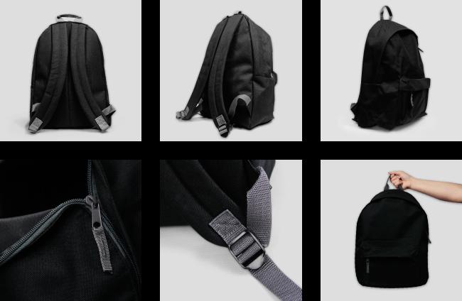 Zdjęcie rzeczywiste Plecak czarny mały