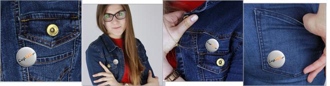 Zdjęcie rzeczywiste CTSG Wear (przypinki)